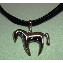 Sterling silver Stylized Horse Pendant